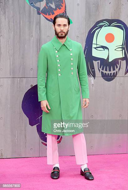 Jared Leto attends the European Premiere of 'Suicide Squad' at the Odeon Leicester Square on August 3 2016 in London England