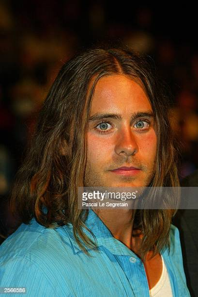 Jared Leto attends the Golden Star award ceremony for Oliver Stone's career achievement during the third Marrakech film festival October 6 2003 at...