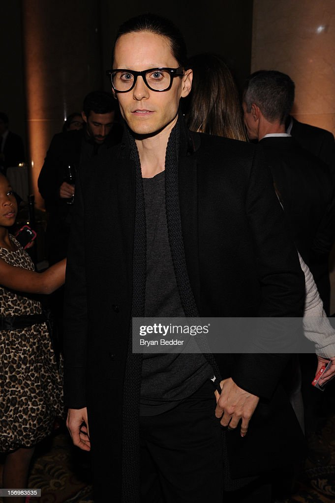<a gi-track='captionPersonalityLinkClicked' href=/galleries/search?phrase=Jared+Leto&family=editorial&specificpeople=214764 ng-click='$event.stopPropagation()'>Jared Leto</a> attends the IFP's 22nd Annual Gotham Independent Film Awards sponsored by FIJI Water at Cipriani Wall Street on November 26, 2012 in New York City.