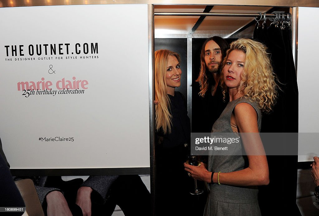Jared Leto (C) attends the Marie Claire 25th birthday celebration featuring Icons of Our Time in association with The Outnet at the Cafe Royal Hotel on September 17, 2013 in London, England.