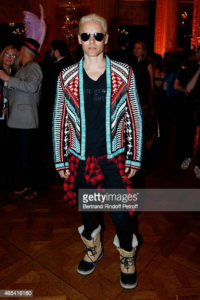 Jared Leto attends the Swarovski X Lanvin Cocktail Party at ShangriLa Hotel Paris on March 6 2015 in Paris France