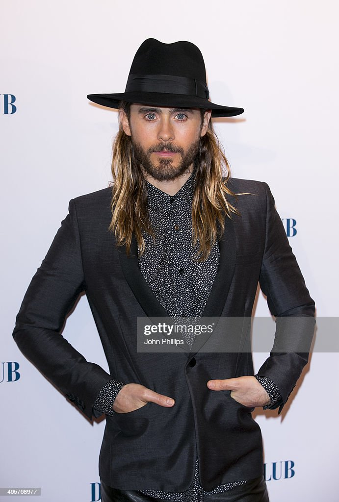 <a gi-track='captionPersonalityLinkClicked' href=/galleries/search?phrase=Jared+Leto&family=editorial&specificpeople=214764 ng-click='$event.stopPropagation()'>Jared Leto</a> attends the UK Premiere of 'Dallas Buyers Club' at The Curzon Mayfair on January 29, 2014 in London, England.