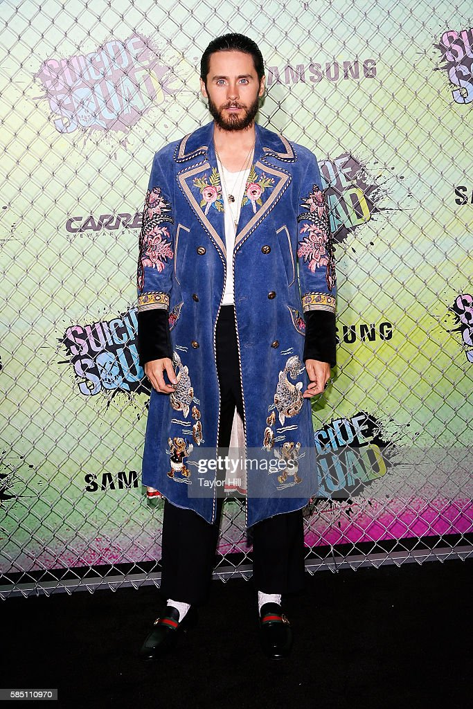 Jared Leto attends the world premiere of 'Suicide Squad' at The Beacon Theatre on August 1, 2016 in New York City.