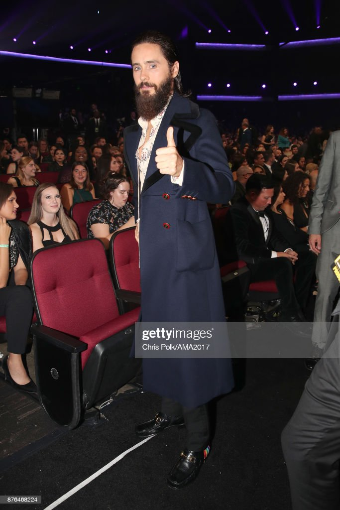 Jared Leto during the 2017 American Music Awards at Microsoft Theater on November 19, 2017 in Los Angeles, California.