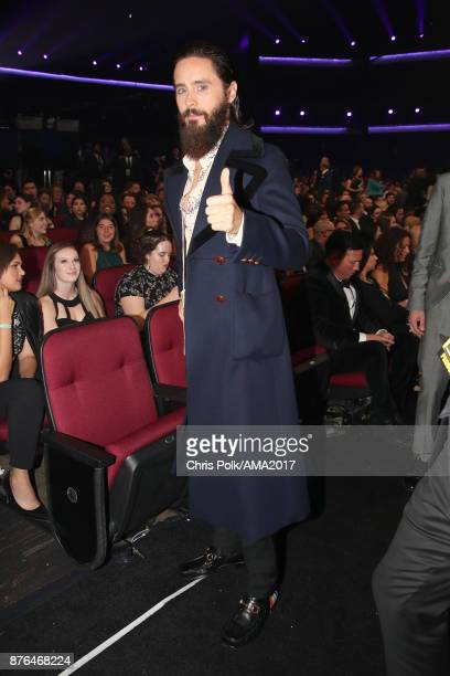 Jared Leto during the 2017 American Music Awards at Microsoft Theater on November 19 2017 in Los Angeles California