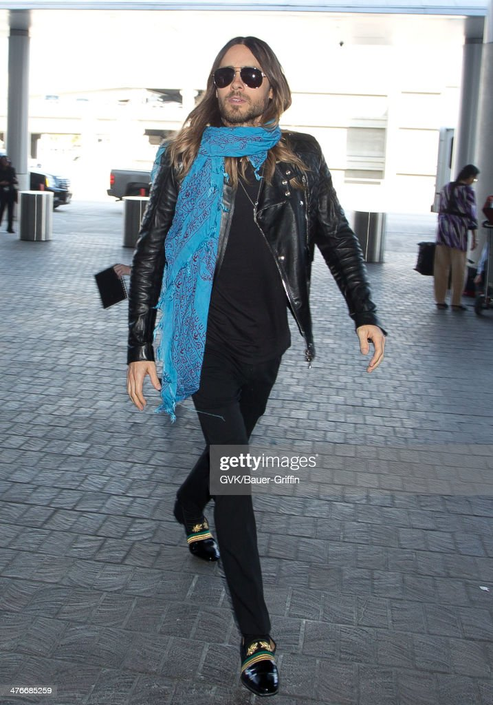 <a gi-track='captionPersonalityLinkClicked' href=/galleries/search?phrase=Jared+Leto&family=editorial&specificpeople=214764 ng-click='$event.stopPropagation()'>Jared Leto</a> is seen at LAX airport on March 04, 2014 in Los Angeles, California.