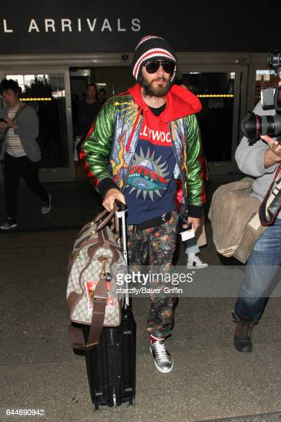 Jared Leto is seen at LAX on February 23 2017 in Los Angeles California