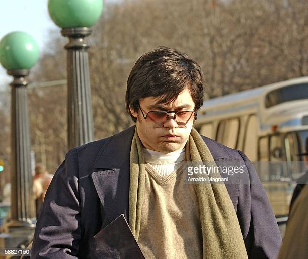 Jared Leto is seen on the movie set during filming 'Chapter 27' in front of the Dakota building in Manhattan on January 19 2005 in New York City...
