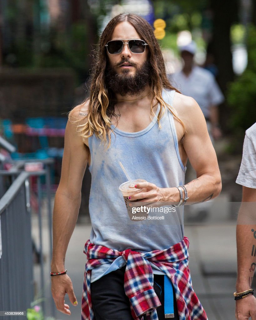 <a gi-track='captionPersonalityLinkClicked' href=/galleries/search?phrase=Jared+Leto&family=editorial&specificpeople=214764 ng-click='$event.stopPropagation()'>Jared Leto</a> is seen walking in East Village on August 19, 2014 in New York City.