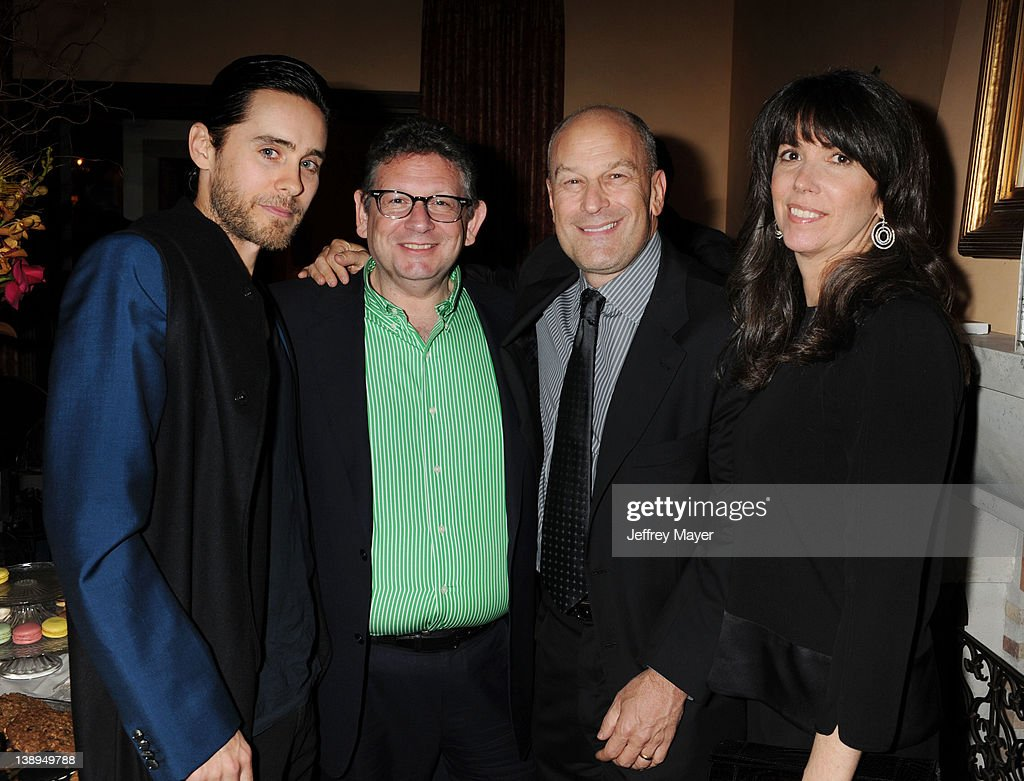 Jared Leto, Lucian Grainge, Barry Weiss and Randi Weiss attend the Universal Music Group 54th Grammy Awards Viewing Reception hosted by Lucian Grainge at a private residence on February 12, 2012 in Los Angeles, California.
