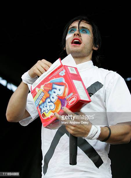 Jared Leto of 30 Seconds to Mars during 2006 Vans Warped Tour Fitchburg at Fitchburg Airport in Fitchburg Massachusetts United States