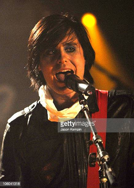 Jared Leto of 30 Seconds To Mars during 30 Seconds To Mars Appears on MTV2 'All That Rocks' July 6 2006 at CBGB's in New York City New York United...