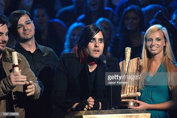 Jared Leto of 30 Seconds To Mars during MTVu Woodie Awards At Roseland Ballroom October 25 2006 at Roseland Ballroom in New York City New York United...