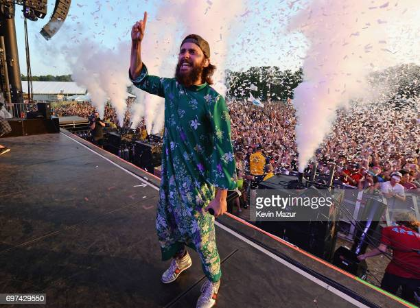 Jared Leto of Thirty Seconds to Mars performs onstage during the 2017 Firefly Music Festival on June 18 2017 in Dover Delaware