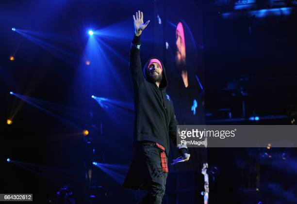 Jared Leto onstage at WELCOME Fundraising Concert Benefiting The ACLU presented by Zedd at Staples Center on April 3 2017 in Los Angeles California