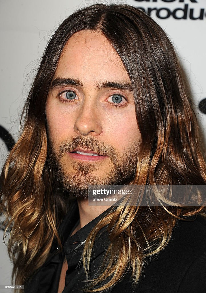 <a gi-track='captionPersonalityLinkClicked' href=/galleries/search?phrase=Jared+Leto&family=editorial&specificpeople=214764 ng-click='$event.stopPropagation()'>Jared Leto</a> poses at the 17th Annual Hollywood Film Awards at The Beverly Hilton Hotel on October 21, 2013 in Beverly Hills, California.