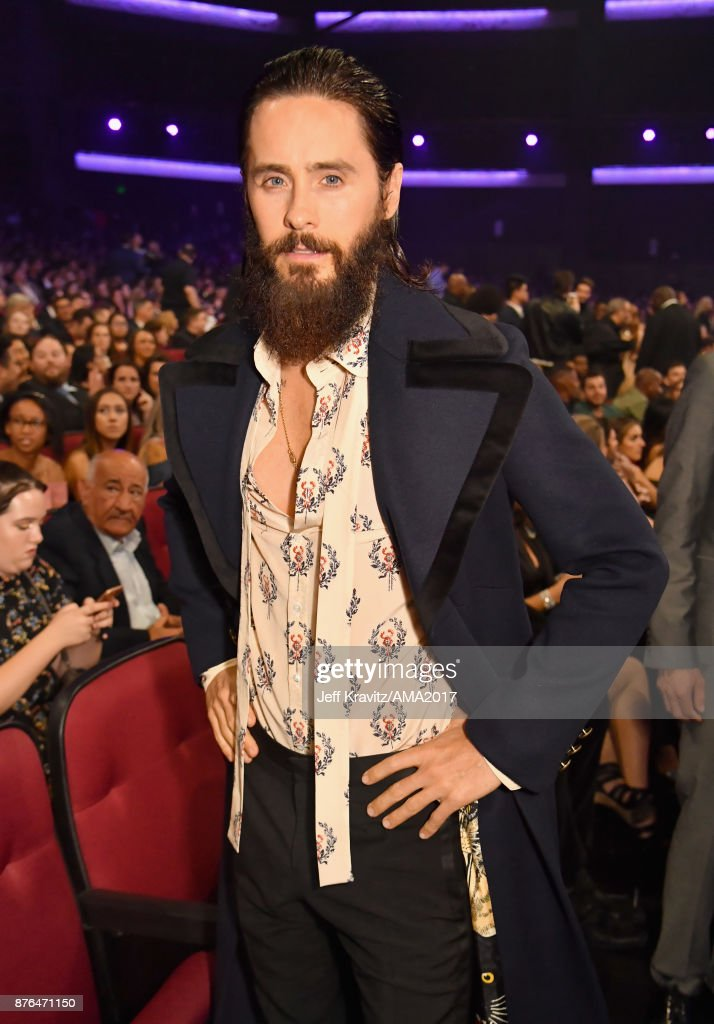 Jared Leto poses during the 2017 American Music Awards at Microsoft Theater on November 19, 2017 in Los Angeles, California.