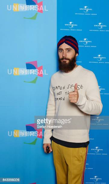 Jared Leto poses for a photo during Universal Inside 2017 organized by Universal Music Group at MercedesBenz Arena on September 6 2017 in Berlin...