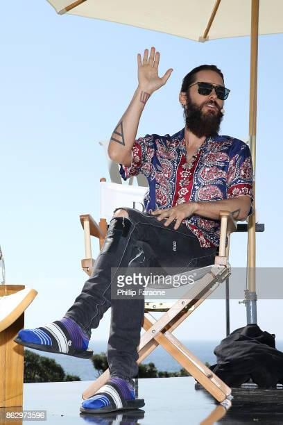 Jared Leto speaks onstage at DLUXE presented by WSJ Magazine at The Montage Laguna Beach on October 18 2017 in Laguna Beach California