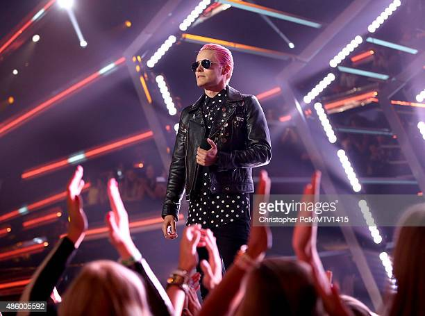 Jared Leto speaks onstage during the 2015 MTV Video Music Awards at Microsoft Theater on August 30 2015 in Los Angeles California