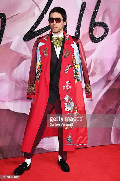 Jared Leto walks the red carpet for the British Fashion Awards 2016 on December 5 2016 in London England