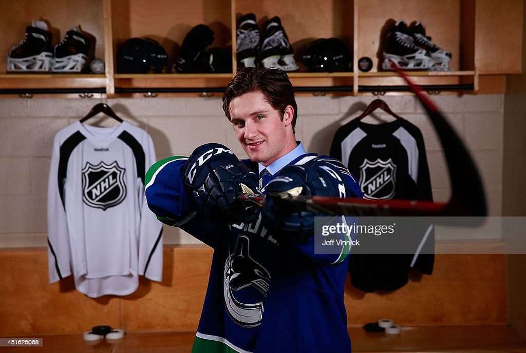 Jared McCann, 24th overall pick of the Vancouver Canucks, poses for a portrait during the 2014 NHL Entry Draft at Wells Fargo Center on June 27, 2014 in Philadelphia, Pennsylvania.