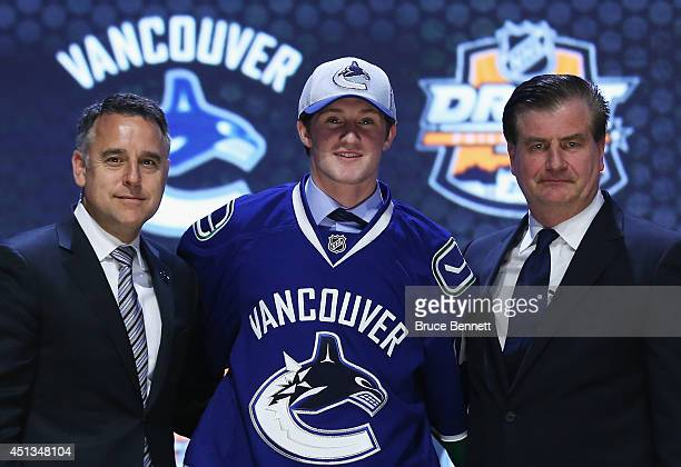 Jared McCann is selected twentyfourth by the Vancouver Canucks in the first round of the 2014 NHL Draft at the Wells Fargo Center on June 27 2014 in...