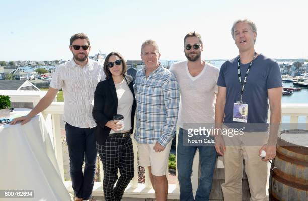 Jared Moshe Lauren Wolkstein Jonathan Burkhart Ryan Eggold and Angus McLachlan attend 'Morning Coffee' during the 2017 Nantucket Film Festival Day 5...