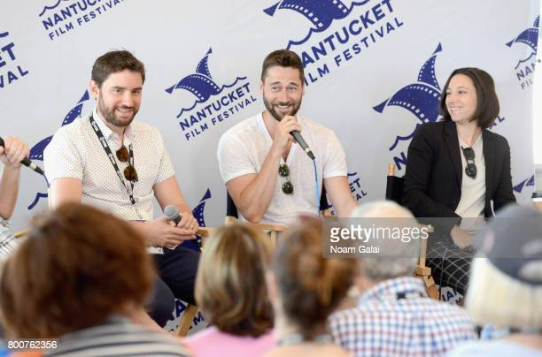 Jared Moshe Ryan Eggold and Lauren Wolkstein attend 'Morning Coffee' during the 2017 Nantucket Film Festival Day 5 on June 25 2017 in Nantucket...