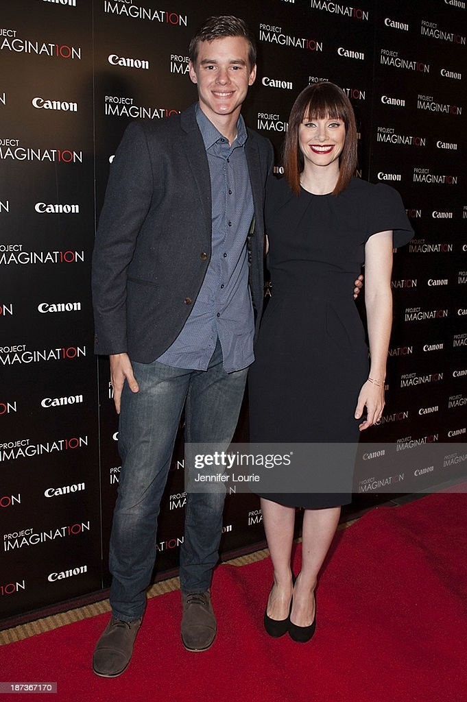 Jared Nelson and <a gi-track='captionPersonalityLinkClicked' href=/galleries/search?phrase=Bryce+Dallas+Howard&family=editorial&specificpeople=156411 ng-click='$event.stopPropagation()'>Bryce Dallas Howard</a> attend the Los Angeles screening for Canon's 'Project Imaginat10n' film festival at Pacific Theatre at The Grove on November 7, 2013 in Los Angeles, California.