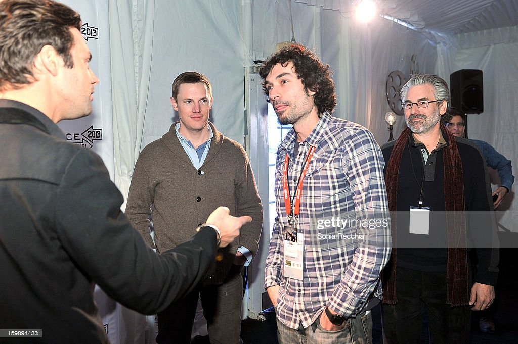 Jared P. Scott Kelly Nyks, Rafel Duran Torrent and Paul Lazarus attend the Focus Forward, GE and Cinelan Awards Event featuring 'Girl Rising' at The Shop during the 2013 Sundance Film Festival on January 22, 2013 in Park City, Utah.