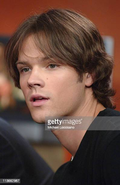 Jared Padalecki during Cast of 'House of Wax' Visits Fuse's 'Daily Download' May 4 2005 at Fuse Studios in New York City New York United States