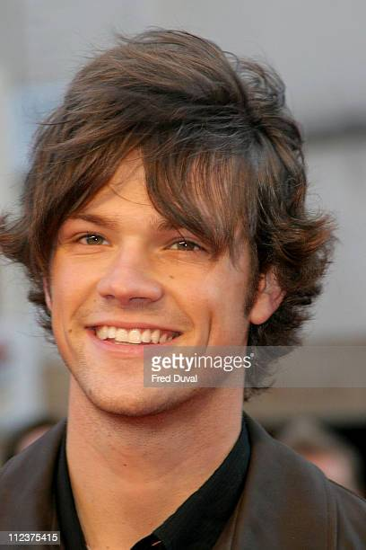 Jared Padalecki during 'House of Wax' London Premiere at Odeon Leicester Square in London Great Britain