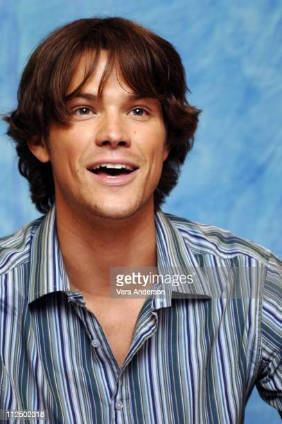Jared Padalecki during 'House of Wax' Press Conference with Elisha Cuthbert Paris Hilton Chad Michael Murray Jarrod Padalecki and Joel Silver at...