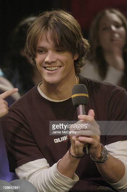 Jared Padalecki during The Cast of 'House of Wax' Visits Fuse's 'Daily Download' May 4 2005 at Fuse Studios in New York City New York United States