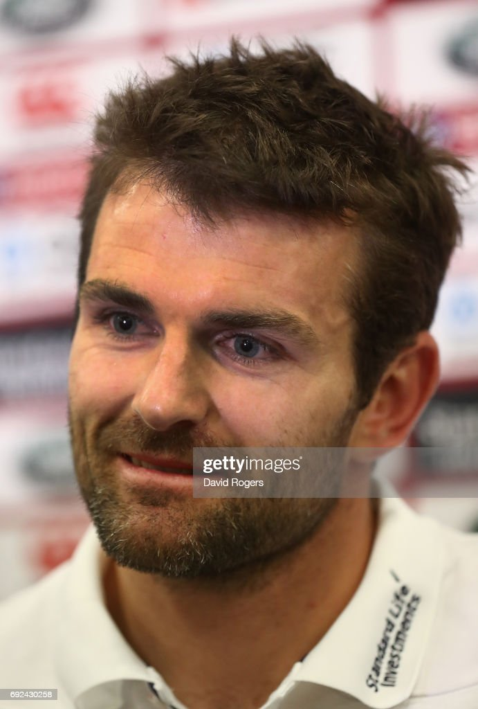 Jared Payne faces the media during the British & Irish Lions media session held at the Pullman Hotel on June 5, 2017 in Auckland, New Zealand.