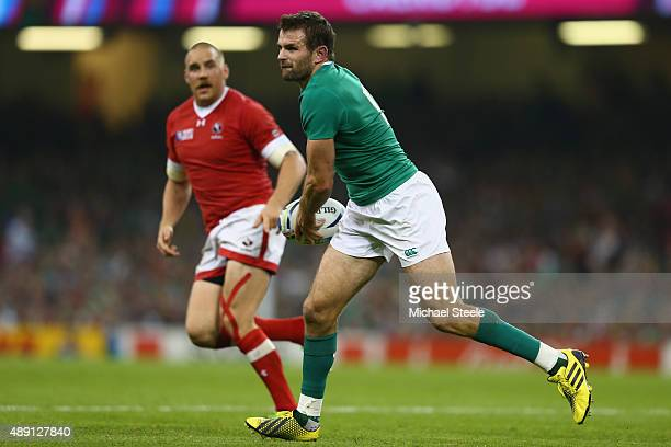 Jared Payne of Ireland during the 2015 Rugby World Cup Pool D match between Ireland and Canada at Millennium Stadium on September 19 2015 in Cardiff...