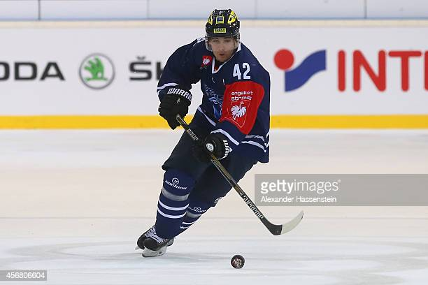 Jared Ross of Ingolstadt during the Champions Hockey League group stage game between ERC Ingolstadt and EV Zug at Saturn Arena on October 7 2014 in...