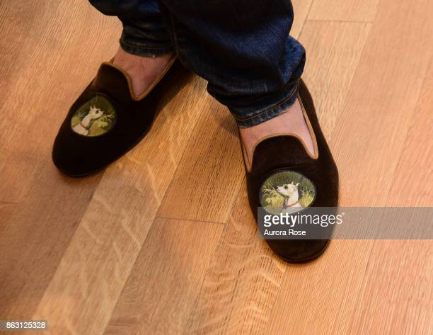 Jared Seligman shoe detail at Iris Dankner and Frette Celebrate The KickOff Of Holiday House NYC And The Release Of The Anniversary Book '10 Years Of...