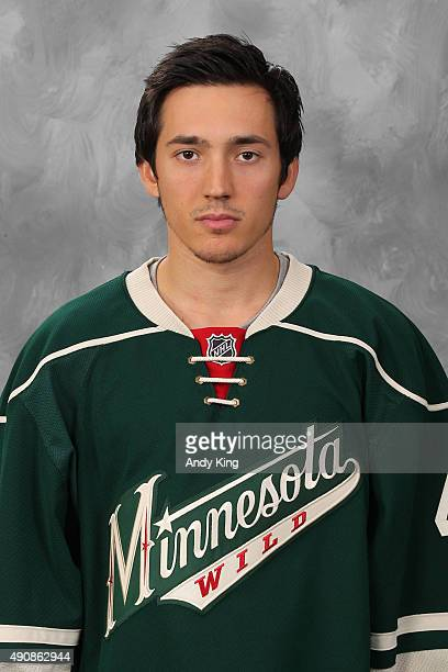 Jared Spurgeon of the Minnesota Wild poses for his official headshot for the 20152016 season on September 17 2015 at the Xcel Energy Center in St...