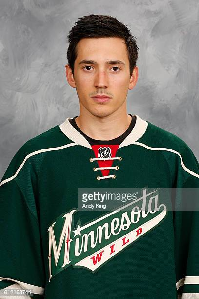 Jared Spurgeon of the Minnesota Wild poses for his official headshot for the 20162017 season on September 22 2016 at the Xcel Energy Center in St...