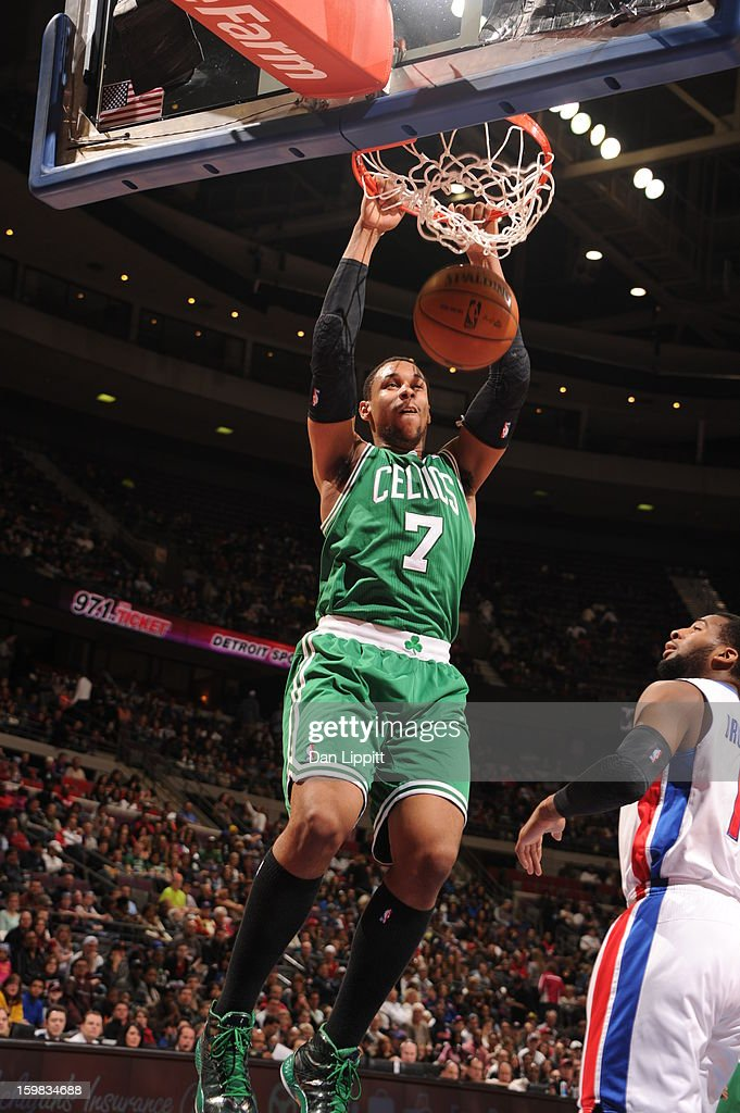 <a gi-track='captionPersonalityLinkClicked' href=/galleries/search?phrase=Jared+Sullinger&family=editorial&specificpeople=6866665 ng-click='$event.stopPropagation()'>Jared Sullinger</a> #7 of the Boston Celtics dunks the ball against the Detroit Pistons on January 20, 2013 at The Palace of Auburn Hills in Auburn Hills, Michigan.