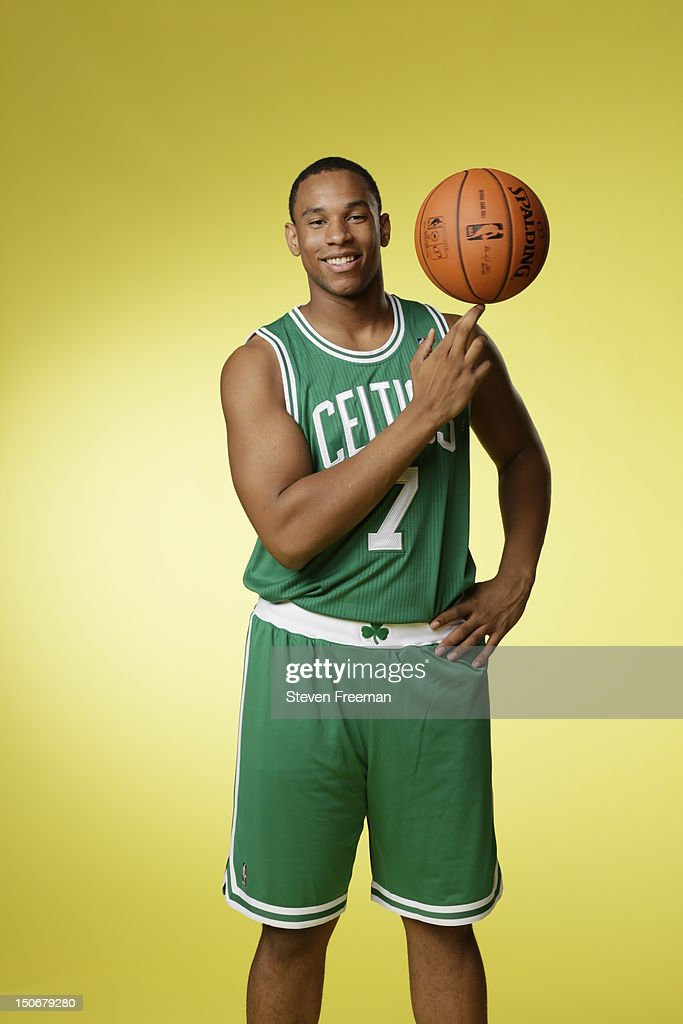 Jared Sullinger #7 of the Boston Celtics poses for a portrait during the 2012 NBA rookie photo shoot on August 21, 2012 at the MSG Training Facility in Tarrytown, New York.