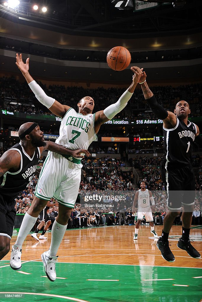 <a gi-track='captionPersonalityLinkClicked' href=/galleries/search?phrase=Jared+Sullinger&family=editorial&specificpeople=6866665 ng-click='$event.stopPropagation()'>Jared Sullinger</a> #7 of the Boston Celtics rebounds against the Brooklyn Nets on November 28, 2012 at the TD Garden in Boston, Massachusetts.