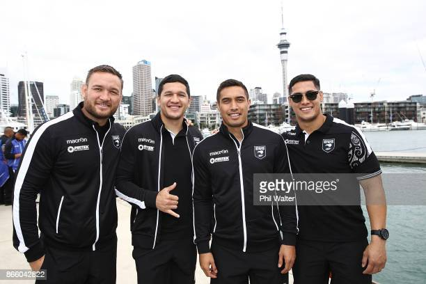 Jared WaereaHargreaves Dallin WateneZelezniak Dean Whare and Roger Tuivasa Sheck pose during their Rugby League World Cup 2017 Team Welcome on...