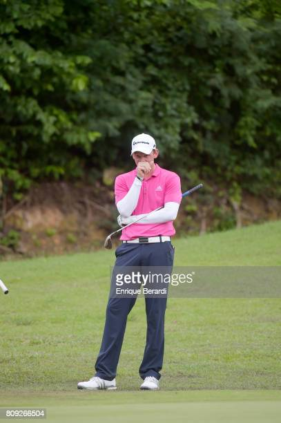 Jared Wolfe of the United States during the third round of the PGA TOUR Latinoamerica BMW Jamaica Classic at Cinnamon Hill Golf Course on June 18...