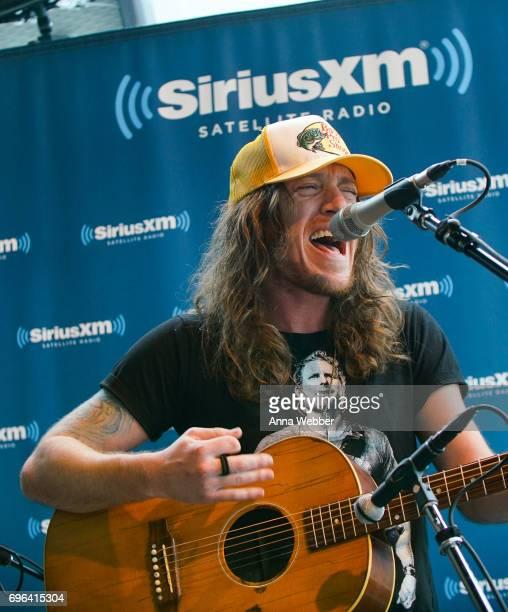 Jaren Johnston of The Cadillac Three Visits SiriusXM Studios In Nashville at SiriusXM Studios on June 15 2017 in Nashville Tennessee
