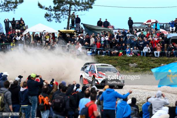 Jari Matti Latvala and Mikka Anttila in Toyota Yaris WRC of Toyota Gazoo Racing WRT in action during the SS2 Viana do Castelo of WRC Vodafone Rally...