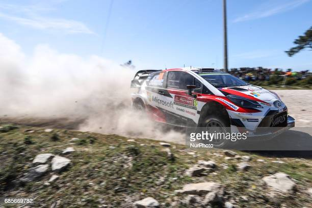 Jari Matti Latvala and Mikka Anttila in Toyota Yaris WRC of Toyota Gazoo Racing WRT in action during the SS5 Viana do Castelo of WRC Vodafone Rally...