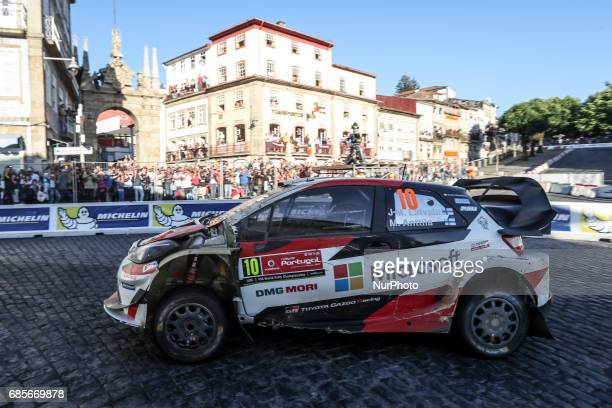 Jari Matti Latvala and Mikka Anttila in Toyota Yaris WRC of Toyota Gazoo Racing WRT in action during the SS8 Braga Street Stage of WRC Vodafone Rally...
